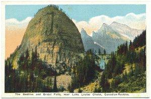 The Beehive & Bridal Falls, Lake Louise Chalet Postcard