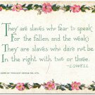 They are slaves who fear to speak, Old Postcard