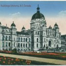 Parliament Buildings, Victoria, BC c1910s Postcard