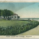 Mount Royal Park Lookout, Montreal Postcard