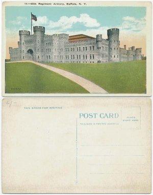 65th Regiment Armory, Buffalo, NY Postcard