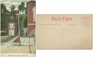 Washington Street Stairway, Galena, IL c.1915 Postcard