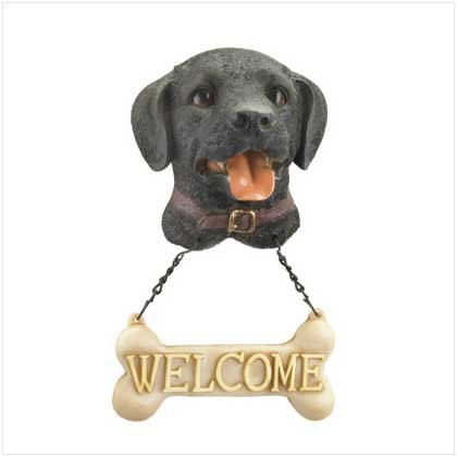 WELCOME DOG PLAQUE - BLACK LAB