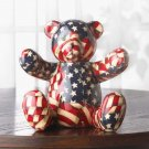PATRIOTIC PATCHWORK BEAR BANK