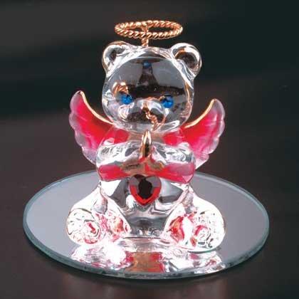 Birth Stone Glass Angel Bear