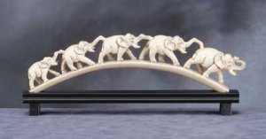 Imperial Ivory-Like 5 Elephants