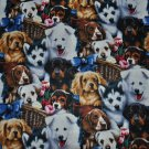 Array Of Dogs Cotton Print Fabric - Sold BTY