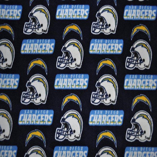 San Diego Chargers Fleece: San Diego Chargers Fleece Fabric