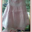 Pink Cotton Emroidery Dress