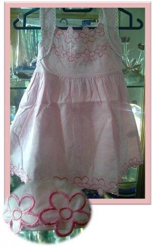 Pink Cotton Emroidery Dress
