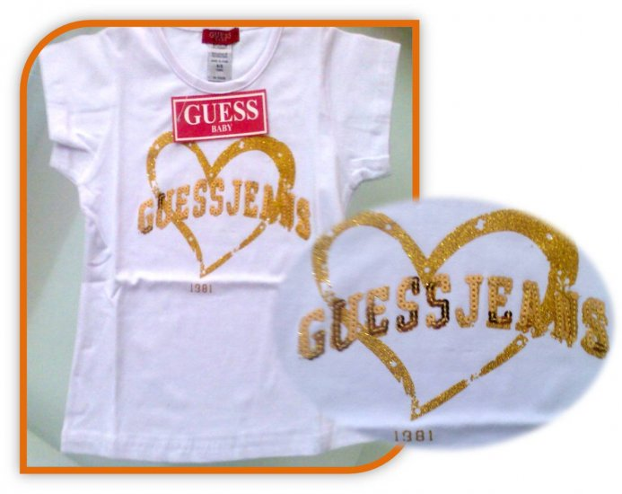 GUESS : Gold Sequined T-shirt