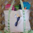 large beach tote bag (Green Camo)
