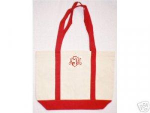 red/natural Boat tote bag