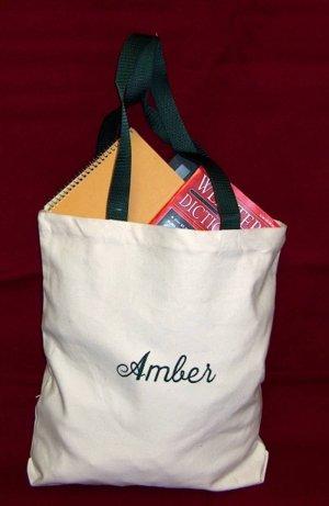 green strap tote bag