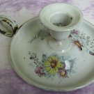 Old French Enamelware Shabby Chic Tom Thumb Candleholder