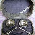 Victorian Webster Sterling Open Salts & Spoons w Presentation Case