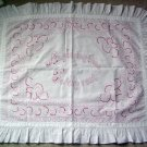 Victorian Antique Turkey Redwork Needlepoint Pillow Top
