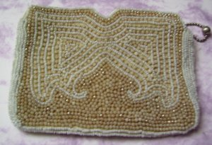 Sweet Childs Vintage 1940s Beaded Clutch Purse