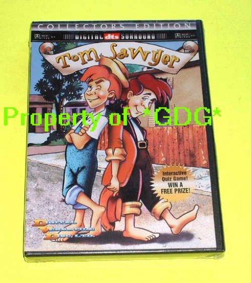 FREE USA Shipping TOM SAWYER Mark Twain's Classic American Tale Movie DVD Animation Cartoon