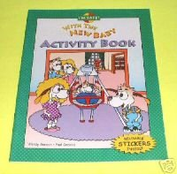I'M SAFE WITH THE NEW BABY Activity Book by Wendy Gordon (NEW) Children Story Pictures!