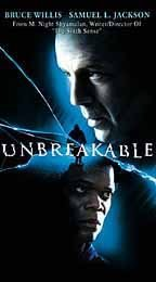 UNBREAKABLE Bruce Willis, Night Shyamalan VHS Tape Movie