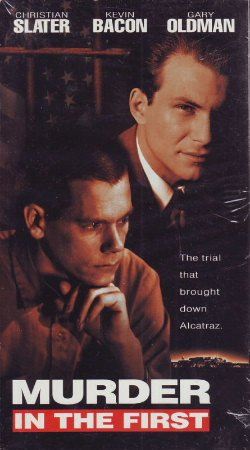 Murder in the First VHS Movie Christian Slater, Kevin Bacon, Gary Oldman, Marc Rocco