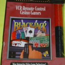 FREE USA Shipping NEW VCR Remote Control CASINO Black Jack VHS Cassette + Game Chips, scoring pad