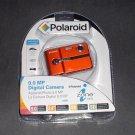 FREE USA Shipping NEW Polaroid CAA-930OC 9MP Digital Camera, USB Cable, Batteries Orange