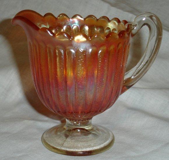 Amber Glass pedestal Creamer
