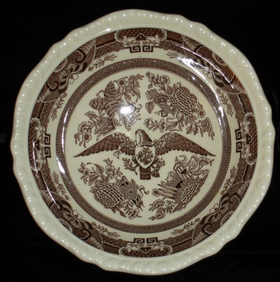 Wedgwood of Etruria American Independence Eagle Bowl  brown transfer