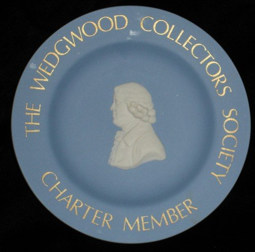 Wedgwood Collectors Society Charter Member plate Blue Jasperware