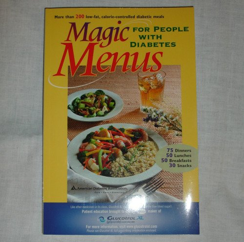 Magic Menus for People With Diabetes   - Glucotrol XL    paperback recipe book