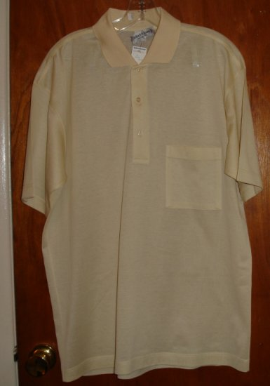 Men's Light Yellow / Ecru Cotton Shirt size M   NWT by Bullock & Jones  $70 retail