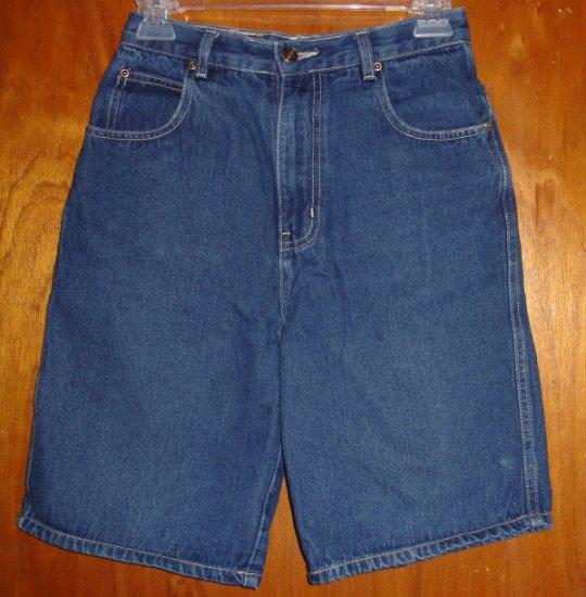 Girl's Route 66 Blue Denim Burmuda length shorts size 14   very good condition