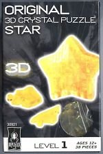 Bepuzzled YELLOW STAR New 3D Crystal Jigsaw Puzzle 38 Pc