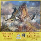 SunsOut WEAVER'S NEEDLE 500 pc New Jigsaw Puzzle Ted Baylock Bald Eagles