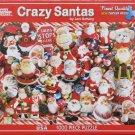 White Mountain CRAZY SANTAS Used 1000 pc Jigsaw Puzzle Lori Schory