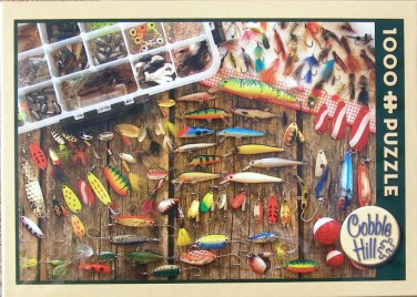 Cobble Hill FISHING LURES 1000 pc New Jigsaw Puzzle Flies