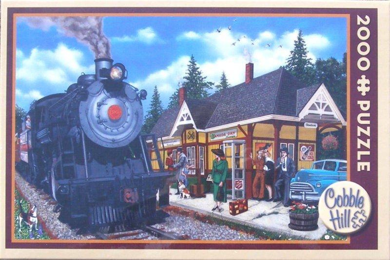 Cobble Hill KIRKLAND LAKE STATION 2000 pc New Jigsaw Puzzle New Trains Railroad