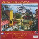SunsOut PADDLE BOAT LANDING Large Size Pieces New 500 pc Jigsaw Puzzle Riverboat
