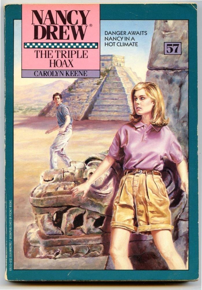 Nancy Drew #57 THE TRIPLE HOAX Carolyn Keene Minstrel Paperback 1987