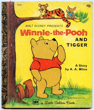 Walt Disney Presents WINNIE THE POOH AND TIGGER Little Golden Book D121 LGB