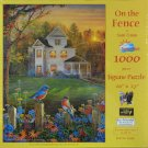 SunsOut ON THE FENCE 1000 pc New  Jigsaw Puzzle Sam Timm Bluebirds