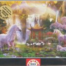 Educa UNICORN VALLEY OF THE WATERFALLS 500 pc New Jigsaw Puzzle