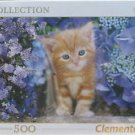 Clemontoni GINGER CAT IN THE FLOWERS 500 pc New Jigsaw Puzzle 8005125304158