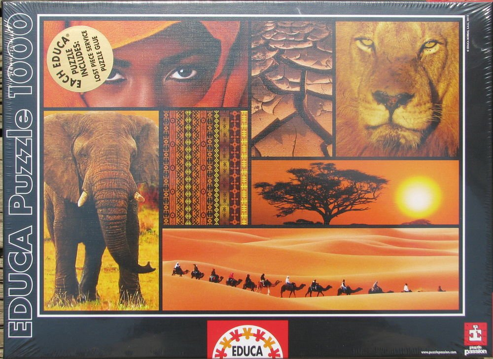 Educa COLORS OF AFRICA 1000 pc New Jigsaw Puzzle