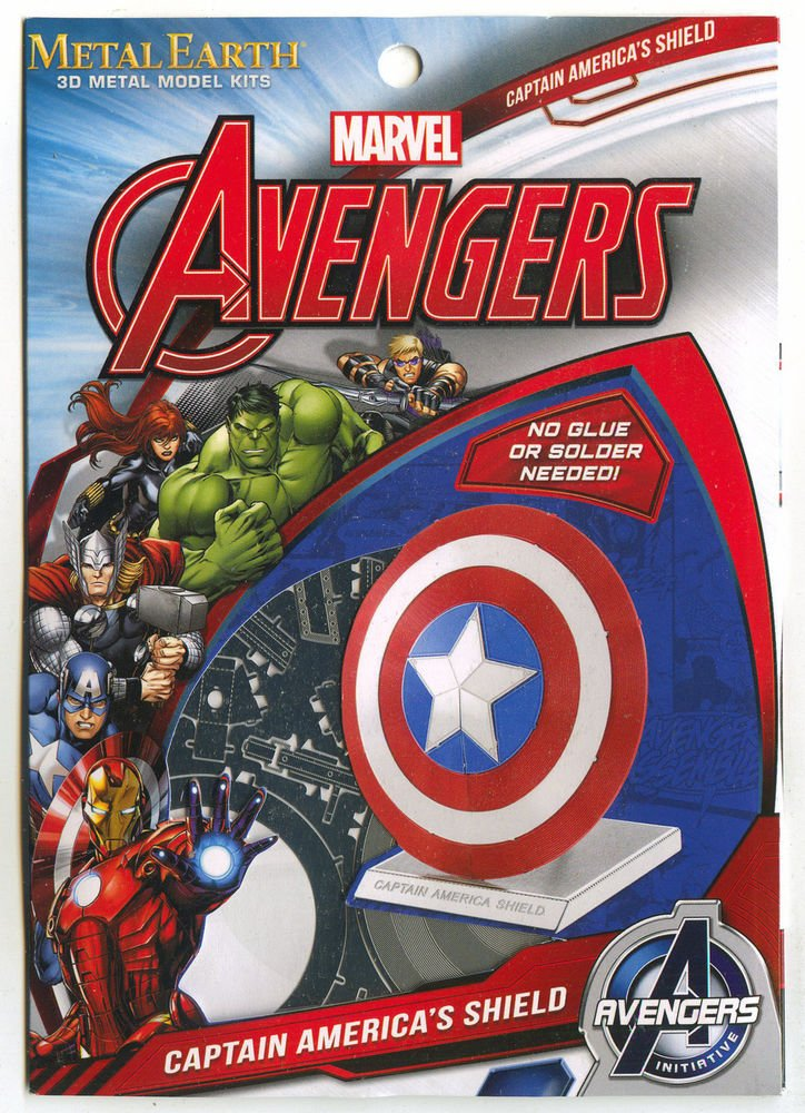 Metal Earth Avengers CAPTAIN AMERICA�S SHIELD New 3D Puzzle Micro Model