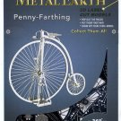 Metal Earth 1870 PENNY FARTHING VELOCIPEDE HIGH WHEEL BICYCLE New 3D Puzzle Micro Model