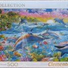 Clemontoni TROPICAL DOLPHINS 500 pc New Jigsaw Puzzle 8005125301706