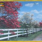 Kodacolor DOGWOOD AND FENCE Used 1000 pc Jigsaw Puzzle